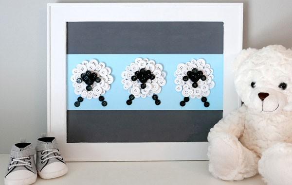 Dễ dàng làm tranh cừu siêu xinh trang trí phòng bé cực cute  - Ảnh 8.