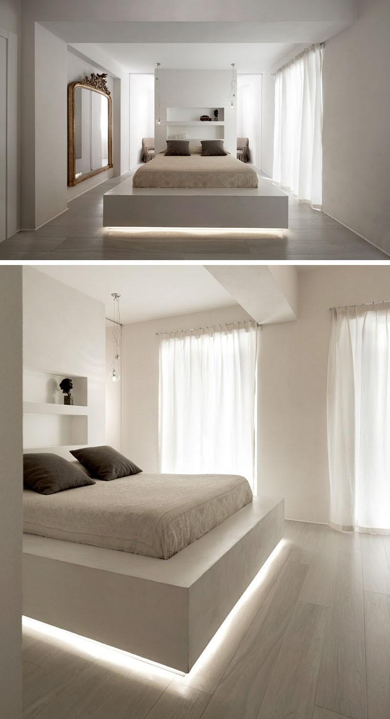 Có sự hỗ trợ của đèn led thì bộ giường ngủ đơn điệu của gia đình cũng trở nên thu hút đến bất ngờ - Ảnh 7.