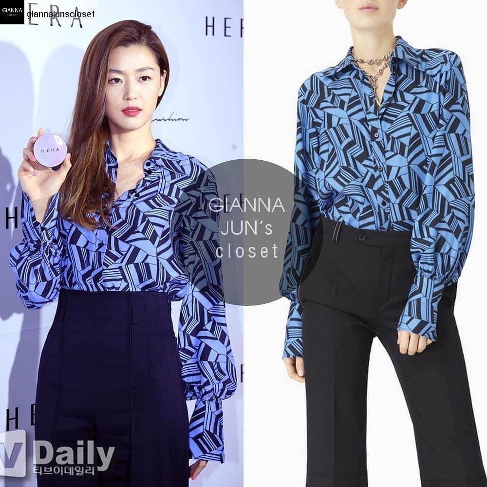 Mợ chảnh Jeon Ji Hyun xinh đẹp ngất ngây với màu tóc mới, diện áo gần 30 triệu - Ảnh 3.