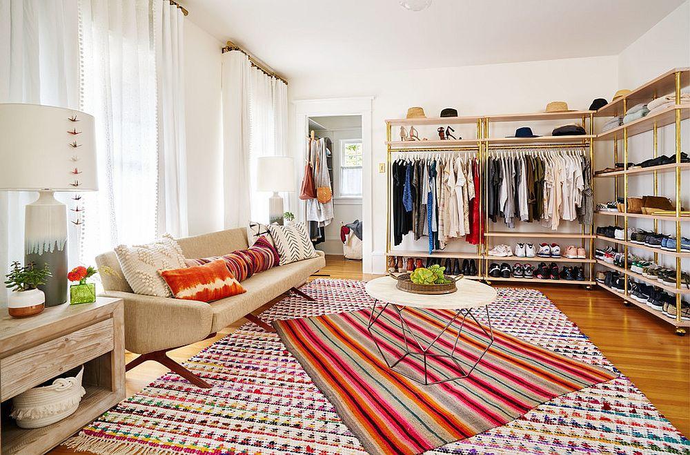 Những mẫu tủ quần áo không cửa nhìn sang, xịn bất chấp nhà rộng hay chật - Ảnh 7.