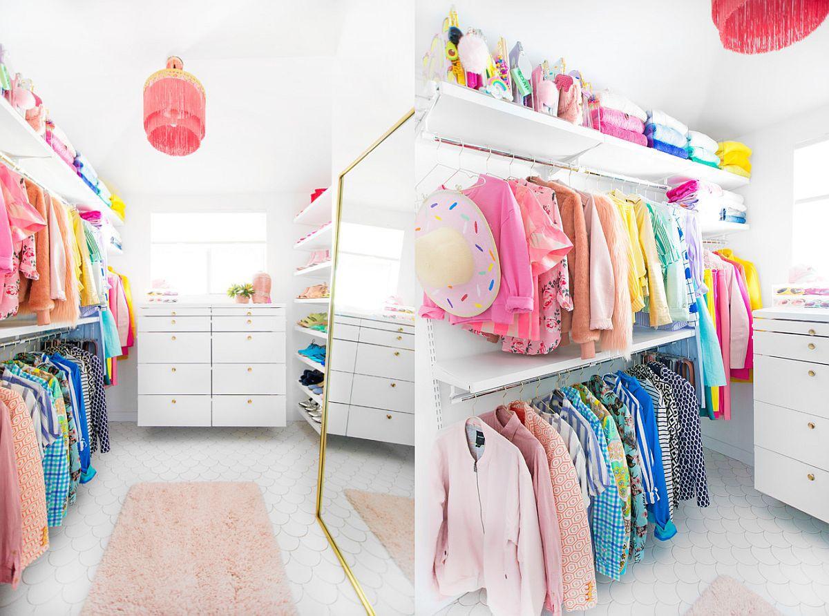 Những mẫu tủ quần áo không cửa nhìn sang, xịn bất chấp nhà rộng hay chật - Ảnh 8.