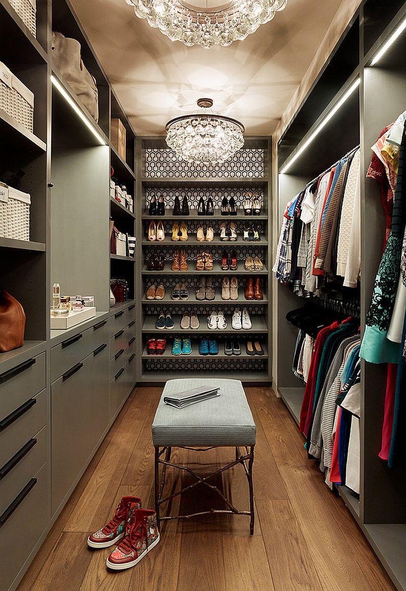 Những mẫu tủ quần áo không cửa nhìn sang, xịn bất chấp nhà rộng hay chật - Ảnh 9.