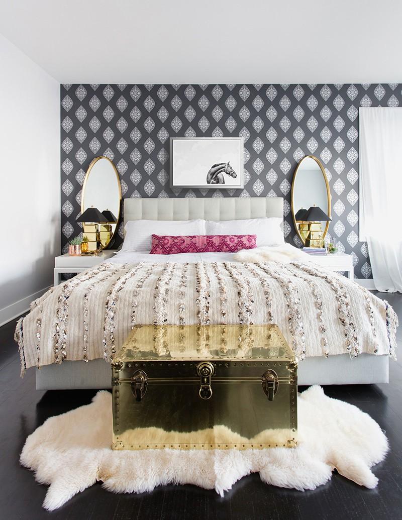 Những mẫu giấy dán tường siêu ấn tượng để bạn lựa chọn cho phòng ngủ gia đình - Ảnh 9.