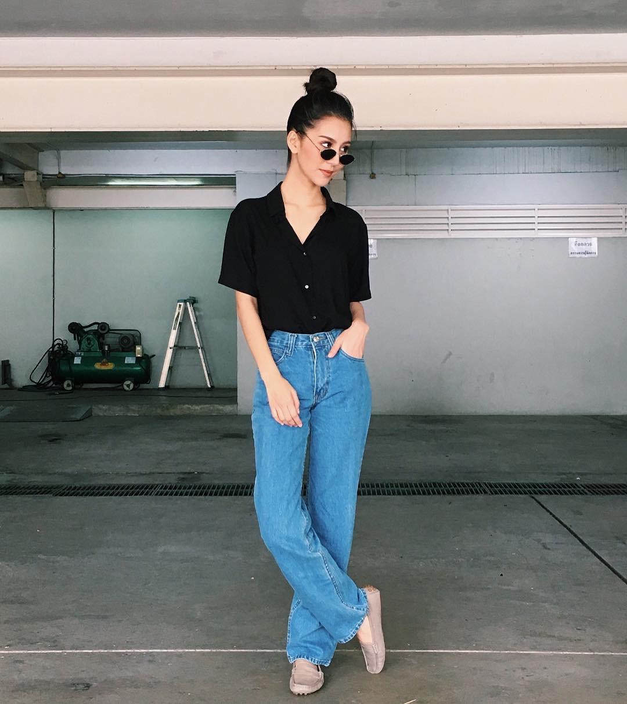 19 chiêu mix&match chất lừ với quần jeans ống rộng, cứ mặc lên là cao thêm cả chục phân chứ chẳng ít - Ảnh 20.