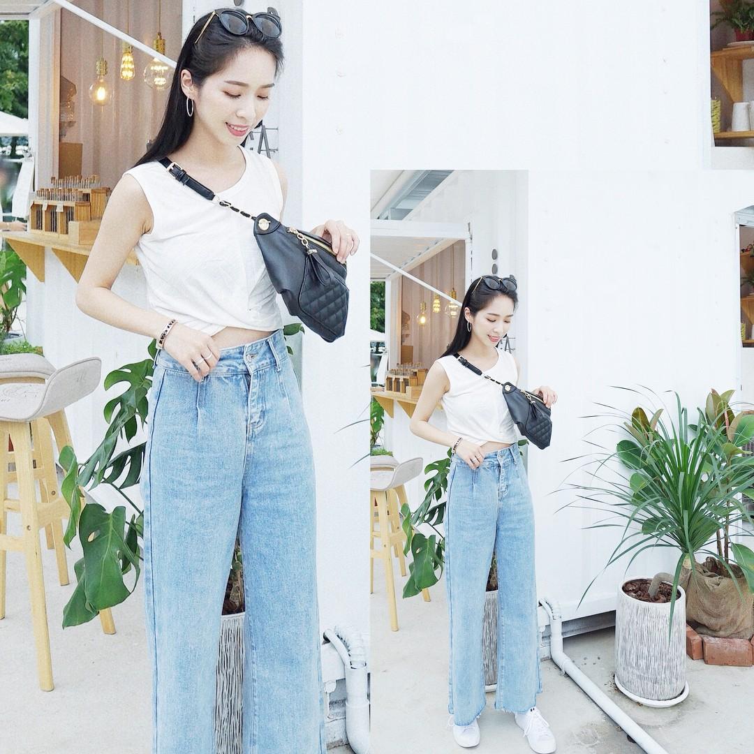 19 chiêu mix&match chất lừ với quần jeans ống rộng, cứ mặc lên là cao thêm cả chục phân chứ chẳng ít - Ảnh 5.