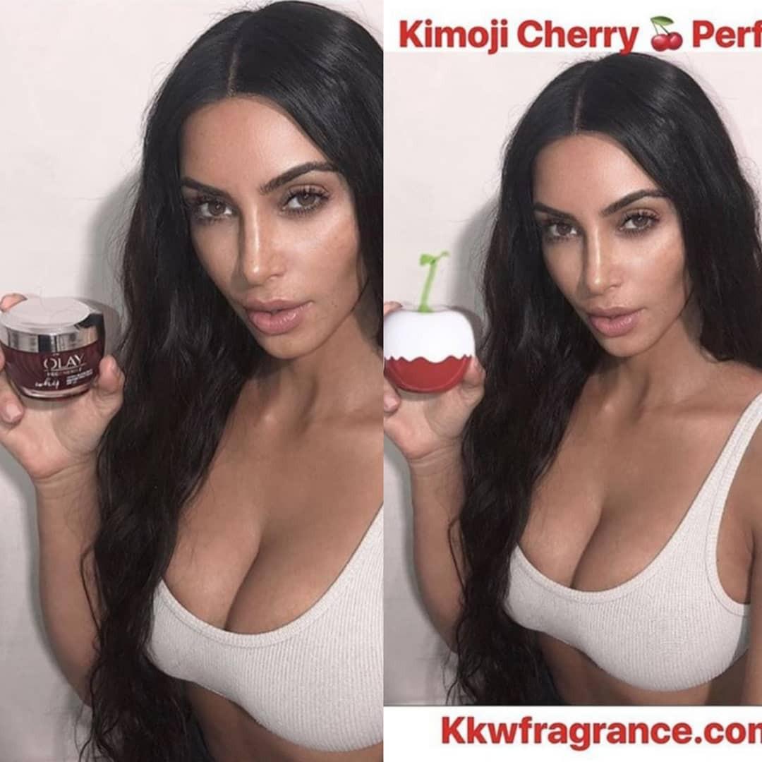 Nhanh nhẹn như Kim Kardashian: lấy ảnh cũ, photoshop tí chút thế là có ảnh mới để quảng cáo nước hoa - Ảnh 3.