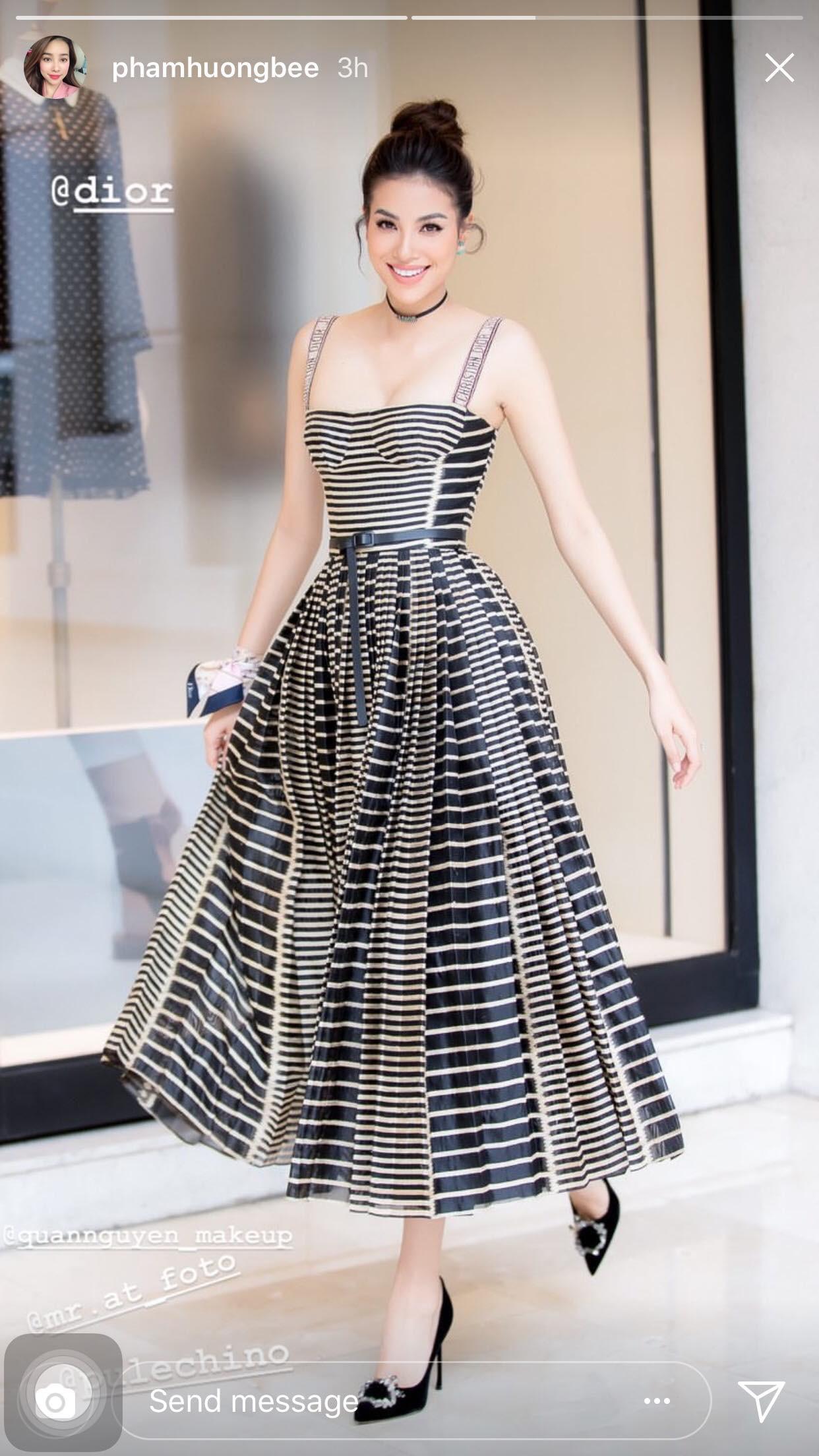Mong manh, ngọt ngào như Angela Baby cũng phải nhường bước trước Phạm Hương khi diện chung một mẫu váy - Ảnh 2.