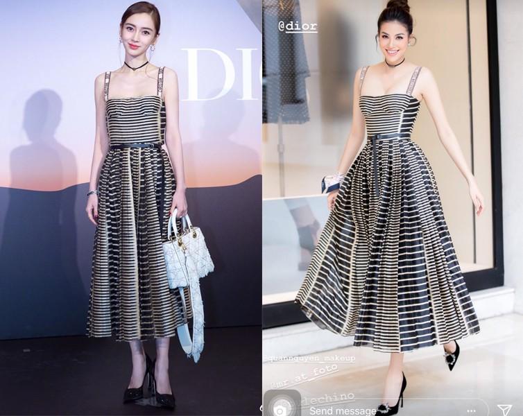 Mong manh, ngọt ngào như Angela Baby cũng phải nhường bước trước Phạm Hương khi diện chung một mẫu váy - Ảnh 8.