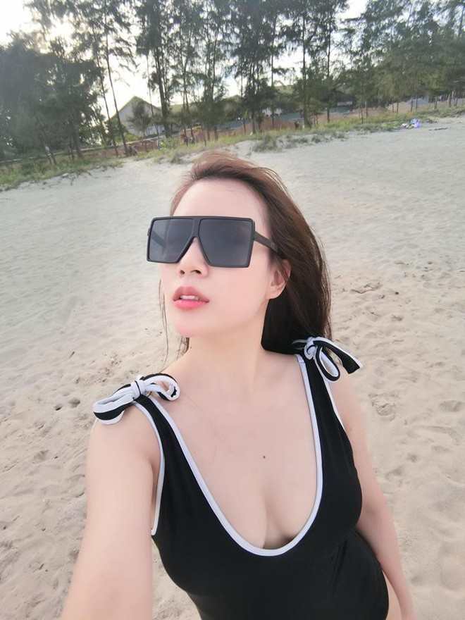 Vợ MC Thành Trung khoe vóc dáng nóng bỏng trên biển - Ảnh 6.