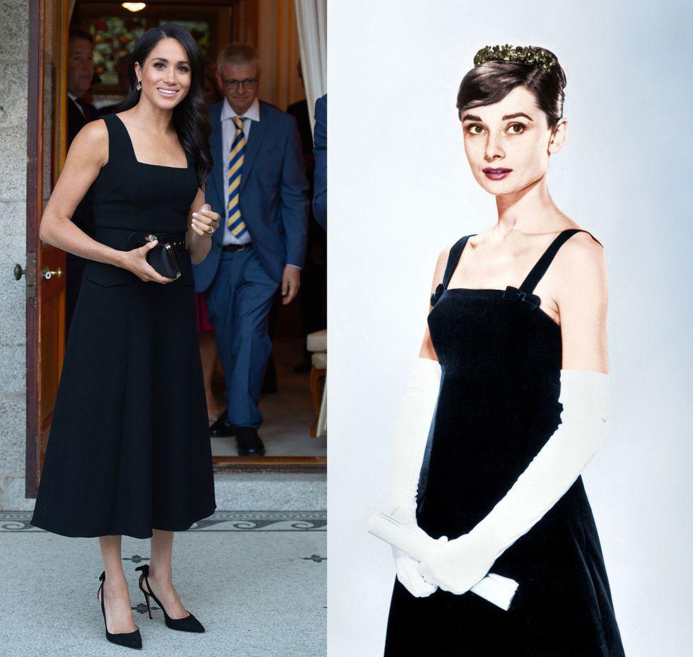 Chẳng phải công nương Diana hay Kate Middleton, dường như Audrey Hepburn mới là thần tượng thời trang của Meghan Markle - Ảnh 2.