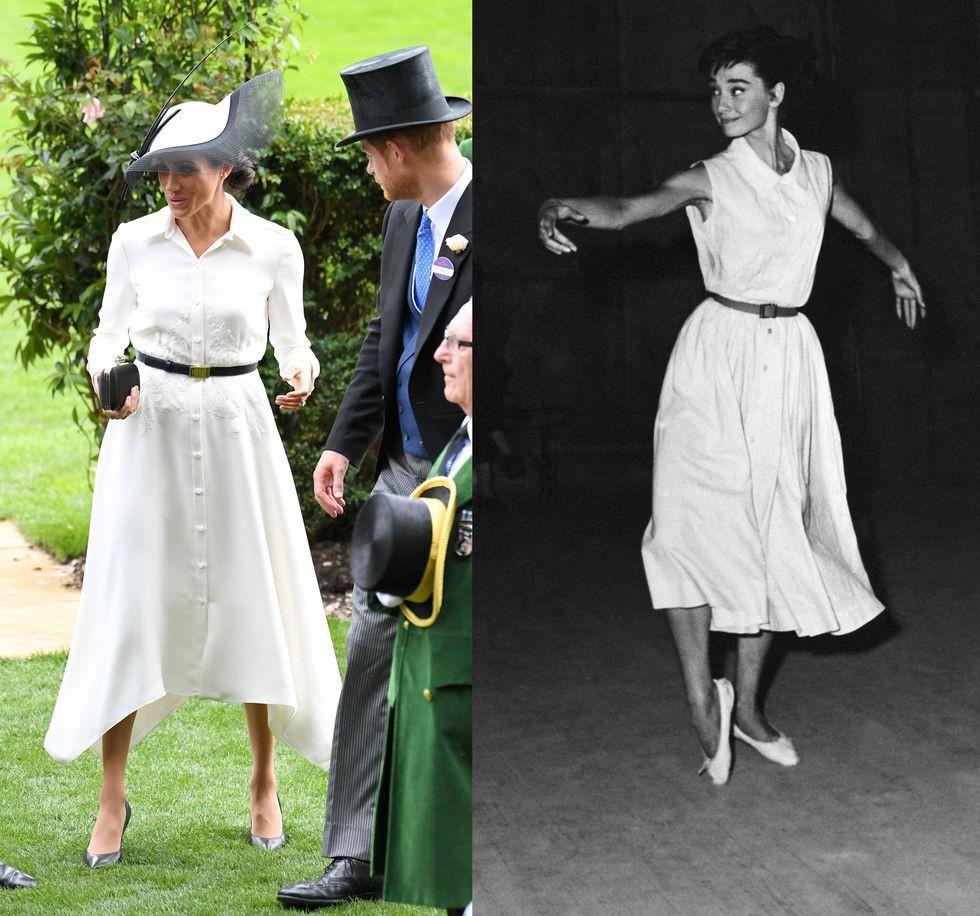 Chẳng phải công nương Diana hay Kate Middleton, dường như Audrey Hepburn mới là thần tượng thời trang của Meghan Markle - Ảnh 3.