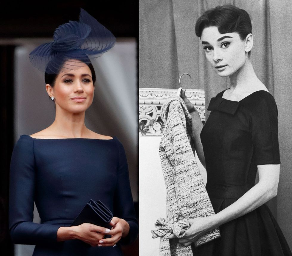Chẳng phải công nương Diana hay Kate Middleton, dường như Audrey Hepburn mới là thần tượng thời trang của Meghan Markle - Ảnh 7.