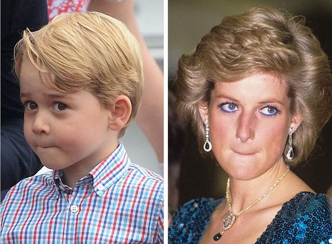 Người hâm mộ tinh ý nhận ra những khoảnh khắc giống nhau giữa Công nương Diana với 3 cháu nội George, Charlotte và Louis - Ảnh 7.