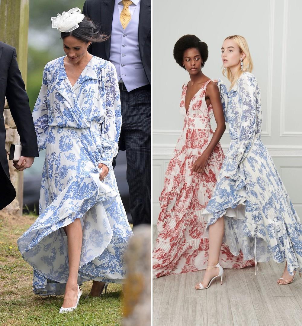 Mang cùng một kiểu họa tiết hoa nhưng chiếc váy của Công nương Meghan Markle lại đắt gấp đôi của Selena Gomez - Ảnh 6.