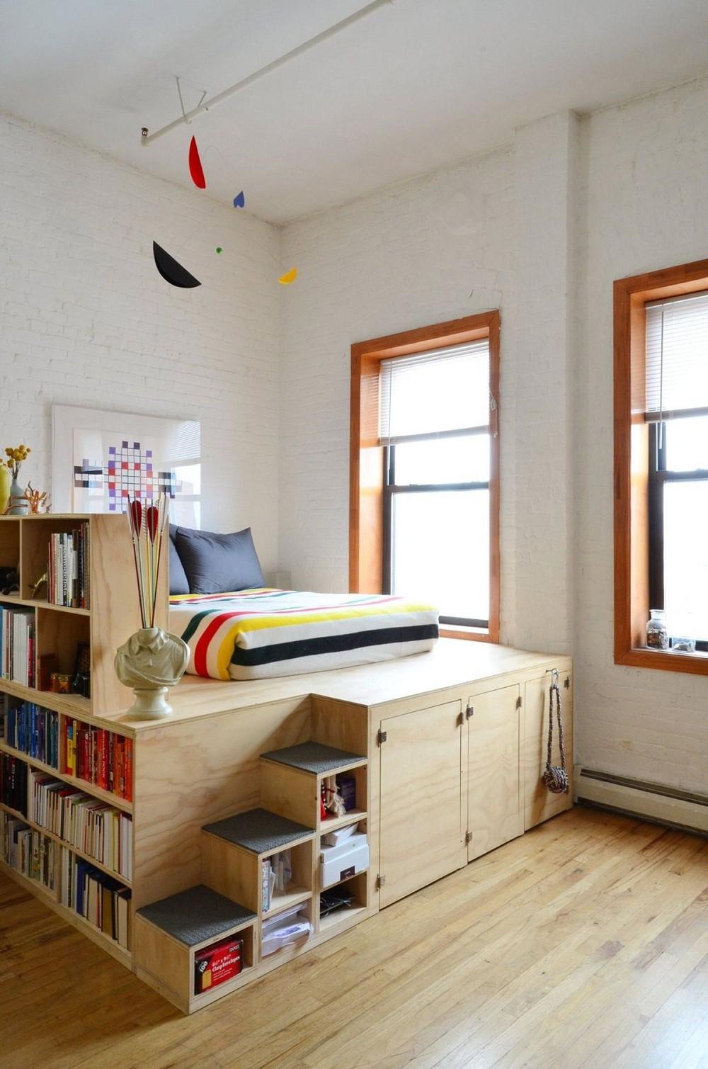 Phòng ngủ nhỏ rộng thênh thang với 8 kiểu giường lưu trữ siêu hoàn hảo dưới đây - Ảnh 8.