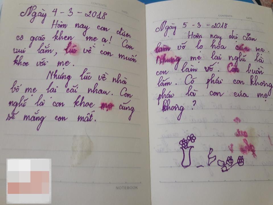 Con không phải là con của bố mẹ phải không? - cuốn nhật ký nhòe nước mắt của bé gái lớp 5 khiến các bậc cha mẹ sững sờ - Ảnh 3.