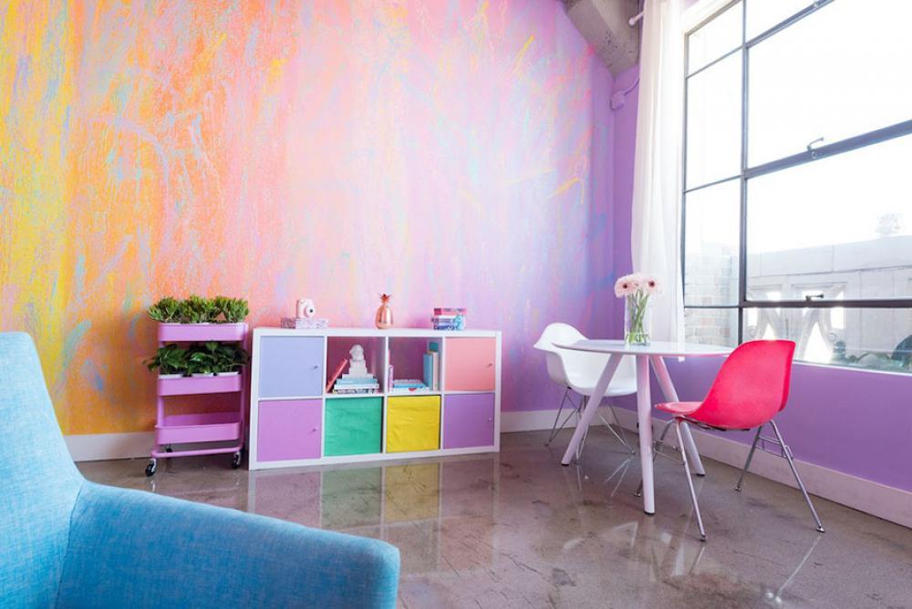 Lấy cầu vồng làm ý tưởng trang trí nhà, căn hộ nhỏ 35m² của cô gái trẻ đang gây sốt trên Instagram - Ảnh 5.