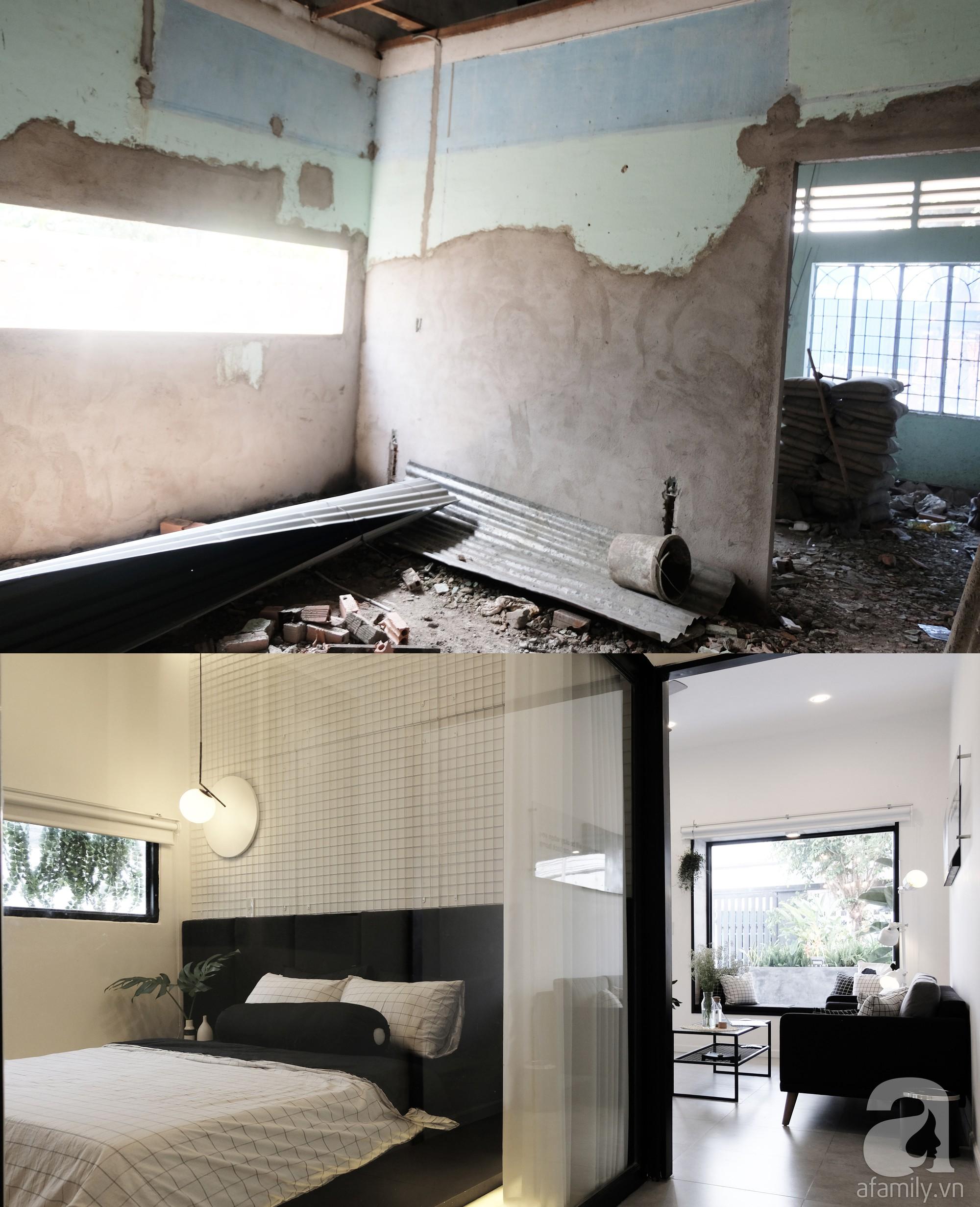Nhà cấp 4 dột nát, cũ kỹ bỗng chốc lột xác cá tính với gam màu đen trắng ở Biên Hòa - Ảnh 3.