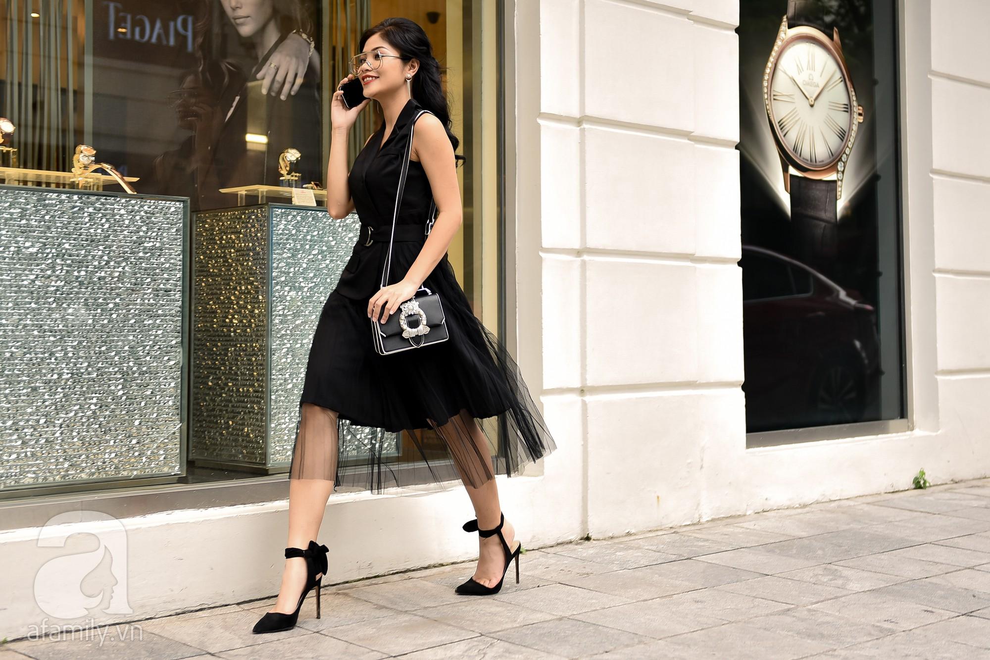 Có ai diện phụ kiện vừa chất vừa điệu như các quý cô miền Bắc trong street style tuần này - Ảnh 10.