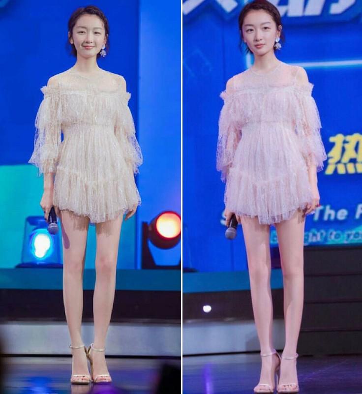 Châu Đông Vũ diện váy rất xinh nhưng đôi chân dài như cà kheo, thẳng đuột như ma nơ canh của cô mới là thứ gây chú ý - Ảnh 3.