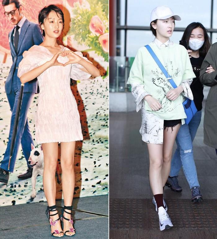 Châu Đông Vũ diện váy rất xinh nhưng đôi chân dài như cà kheo, thẳng đuột như ma nơ canh của cô mới là thứ gây chú ý - Ảnh 4.