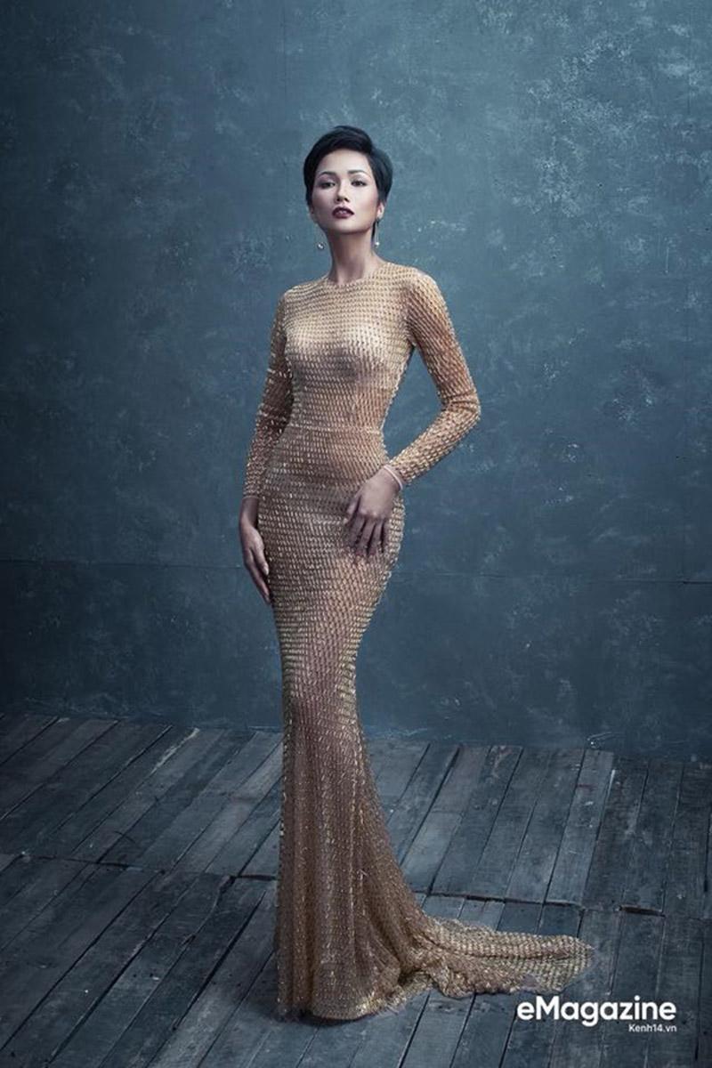 """Diện lại váy cũ sau Hồ Ngọc Hà và H'Hen Niê, Đỗ Mỹ Linh lại """"cao tay"""" khi biến hóa thêm chi tiết này - Ảnh 5."""