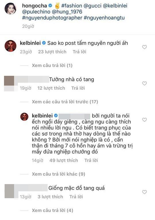 Kelbin đáp trả cực kì gay gắt khi netizen chê bai Hà Hồ mặc đồ như... nhà có tang - Ảnh 3.
