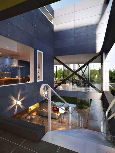 Ngôi nhà hai tầng thiết kế bằng kính ấn tượng - Ảnh 3.