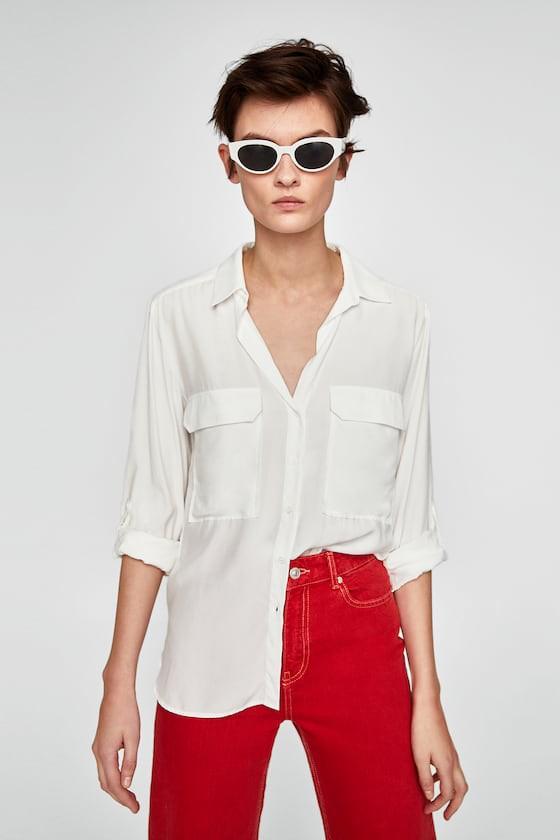 Đơn giản tuyệt đối như chiếc sơmi trắng của Zara mà cũng có tới 18 cách mix khác biệt dành cho nàng công sở - Ảnh 2.