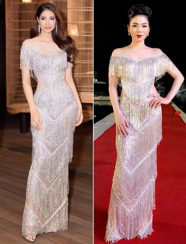 Hơn 10 tuổi và kém 10 phân, Lệ Quyên cũng chẳng ngán khi đụng hàng với Hoa hậu Phạm Hương - Ảnh 3.