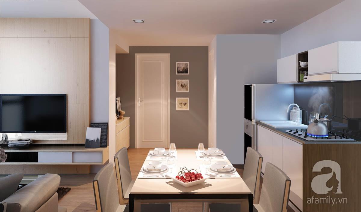 Chỉ với 100 triệu, đôi vợ chồng trẻ đã được KTS tư vấn thiết kế cho căn hộ 49m² với đầy đủ công năng - Ảnh 2.