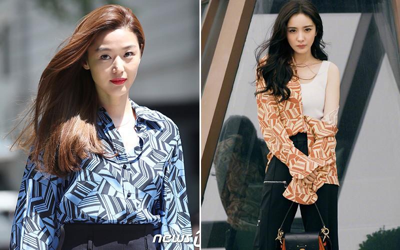 Cùng diện 1 chiếc áo, Dương Mịch ghi điểm ở cách mix nhưng vẫn thua kém Jeon Ji Hyun về thần thái - Ảnh 6.