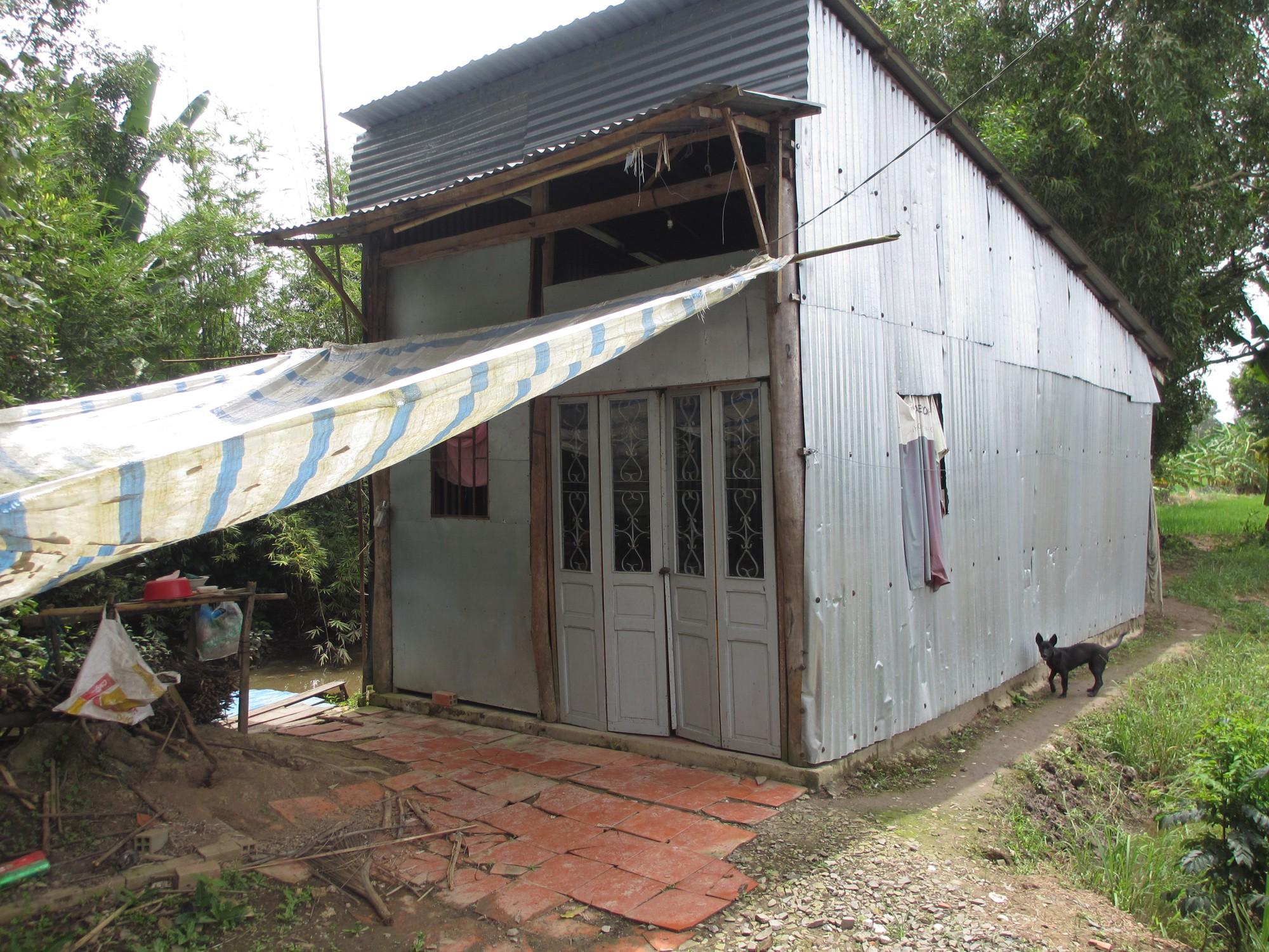 Căn nhà Kha và vợ con sinh sống tại tỉnh Đồng Tháp.