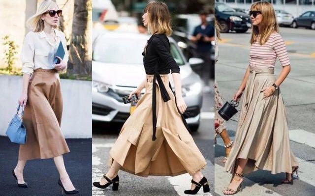 Tạm cất những thiết kế mỏng manh mềm mại, chân váy mùa thu năm nay lại thiên về kiểu đứng dáng thế này  - Ảnh 2.