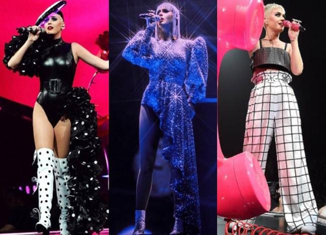 Katy Perry khoe tóc xanh như tàu lá chuối, nhưng điều đáng chú ý hơn là bộ đồ diễn từ NTK Công Trí - Ảnh 6.