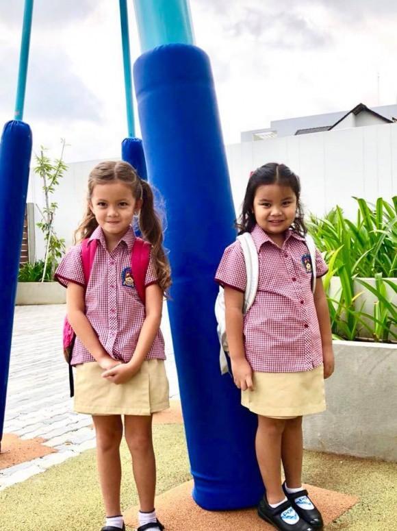 Xem loạt nhóc tỳ nhà sao Việt xúng xính đồng phục dự lễ khai giảng đầu năm học mới - Ảnh 5.