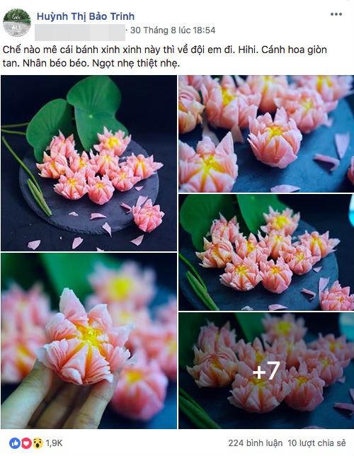 Giảng viên xinh như hot girl chia sẻ cách làm bánh hoa sen đẹp hơn hoa thật ngon mê li - Ảnh 1.
