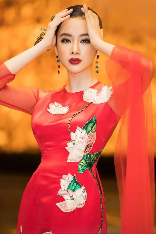 Mặc váy đầm lộng lẫy thôi là chưa đủ, phải trang điểm đẹp, chọn son môi xuyệt tông nhưng Angela Phương Trinh mới hoàn hảo - Ảnh 7.