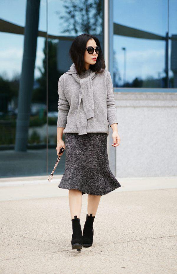 Vừa ấm áp lại vừa trendy với trào lưu biến áo len thành khăn quàng - Ảnh 2.