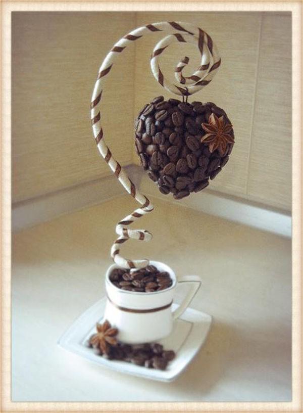 Biến hạt cà phê thành phiên bản trang trí nhà siêu đẹp mắt - Ảnh 6.