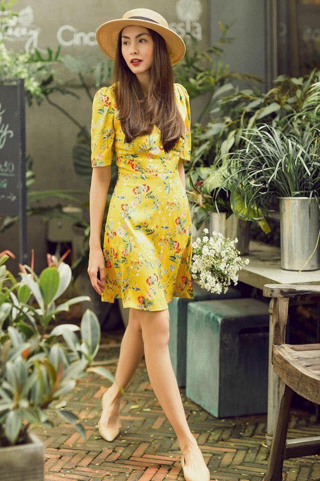 Trước khi vướng nghi vấn mang bầu lần 3, Hà Tăng đẹp rạng ngời diện váy hoa dạo phố - Ảnh 5.