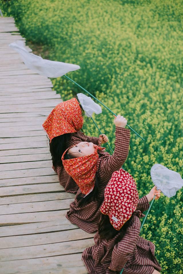 Bộ ba bạn thân Mầm - Mũm - Mon xuất hiện siêu yêu trong bộ ảnh chụp trên cánh đồng hoa cải - Ảnh 32.