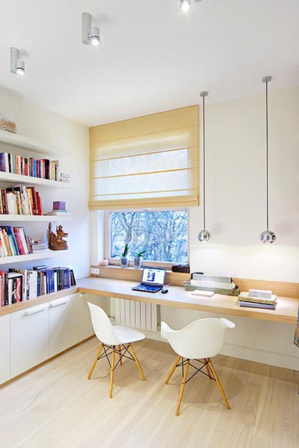 Những cách tận dụng không gian cửa sổ để tạo góc làm việc thoải mái cho nhà hẹp - Ảnh 9.