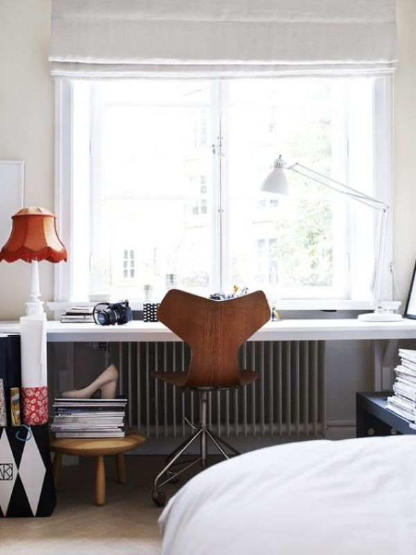 Những cách tận dụng không gian cửa sổ để tạo góc làm việc thoải mái cho nhà hẹp - Ảnh 14.