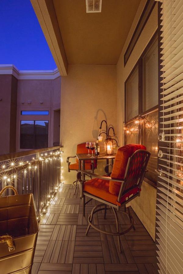 Ban công lung linh, đẹp lãng mạn về đêm với vô vàn ý tưởng thú vị làm đẹp bằng ánh sáng - Ảnh 10.
