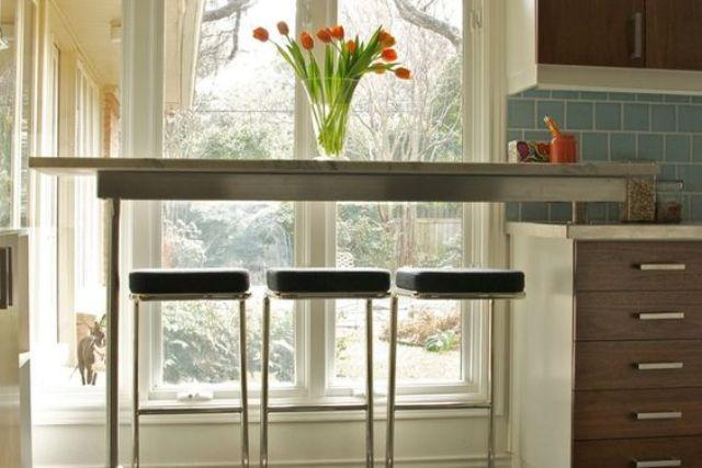 Những góc ăn sáng nhỏ xinh trong căn bếp hẹp - ảnh 1