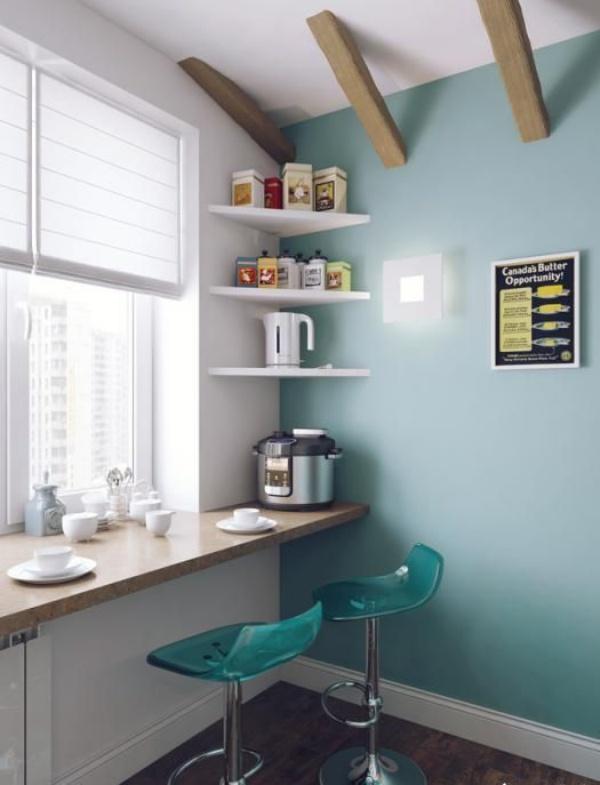 Những góc ăn sáng nhỏ xinh trong căn bếp hẹp - ảnh 3