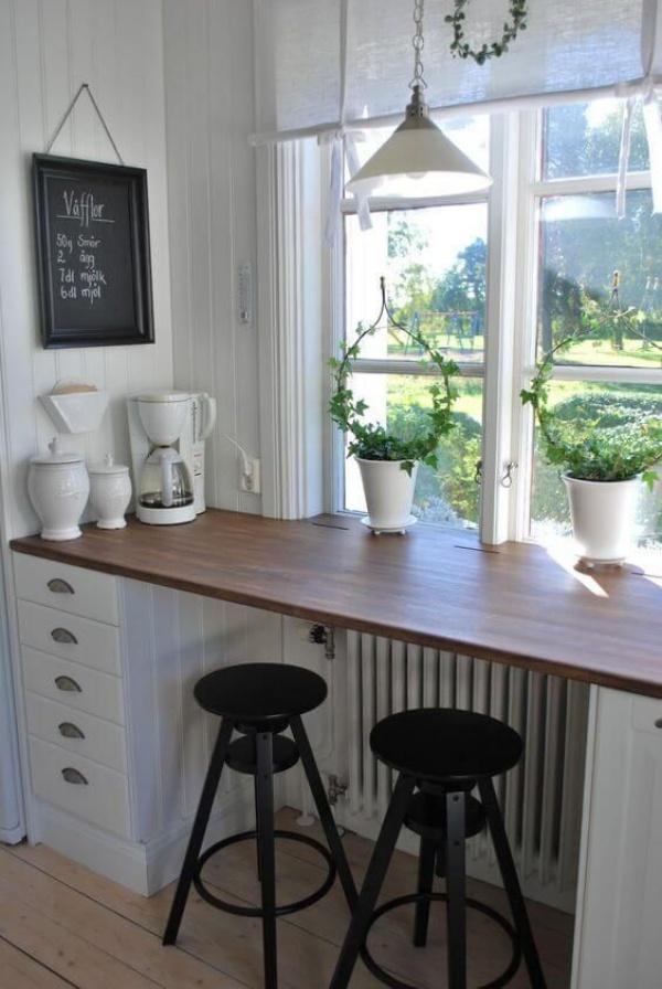 Những góc ăn sáng nhỏ xinh trong căn bếp hẹp - ảnh 11