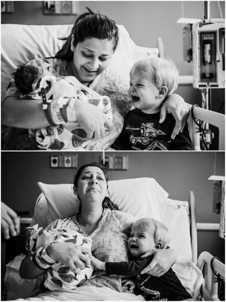 Phản ứng dữ dội của cậu bé khi mẹ vừa sinh em khiến mọi người sửng sốt - Ảnh 2.