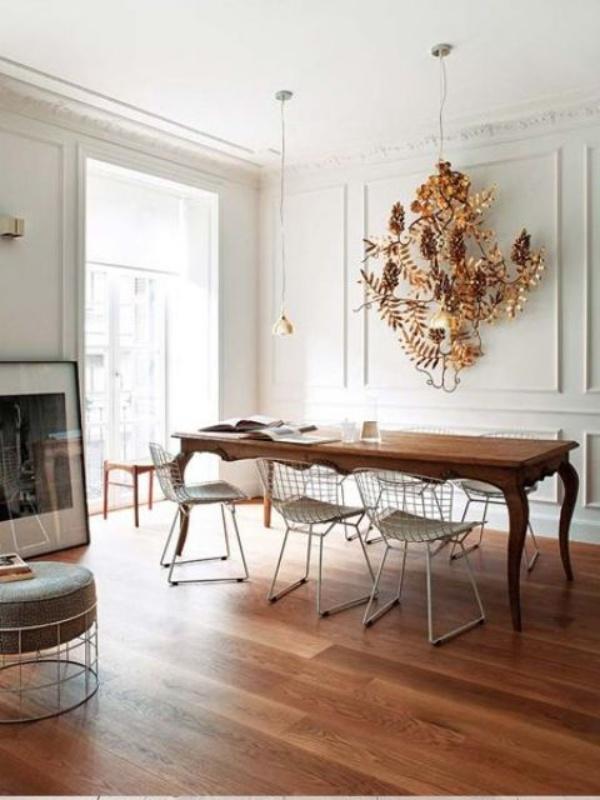 Kết hợp bàn gỗ kiểu cũ với ghế hiện đại - xu hướng mới cho phòng ăn gia đình - Ảnh 6.